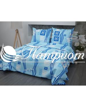 КПБ 1.5 спальный Пикассо, голубой, набивная бязь 125 гм2 348-1